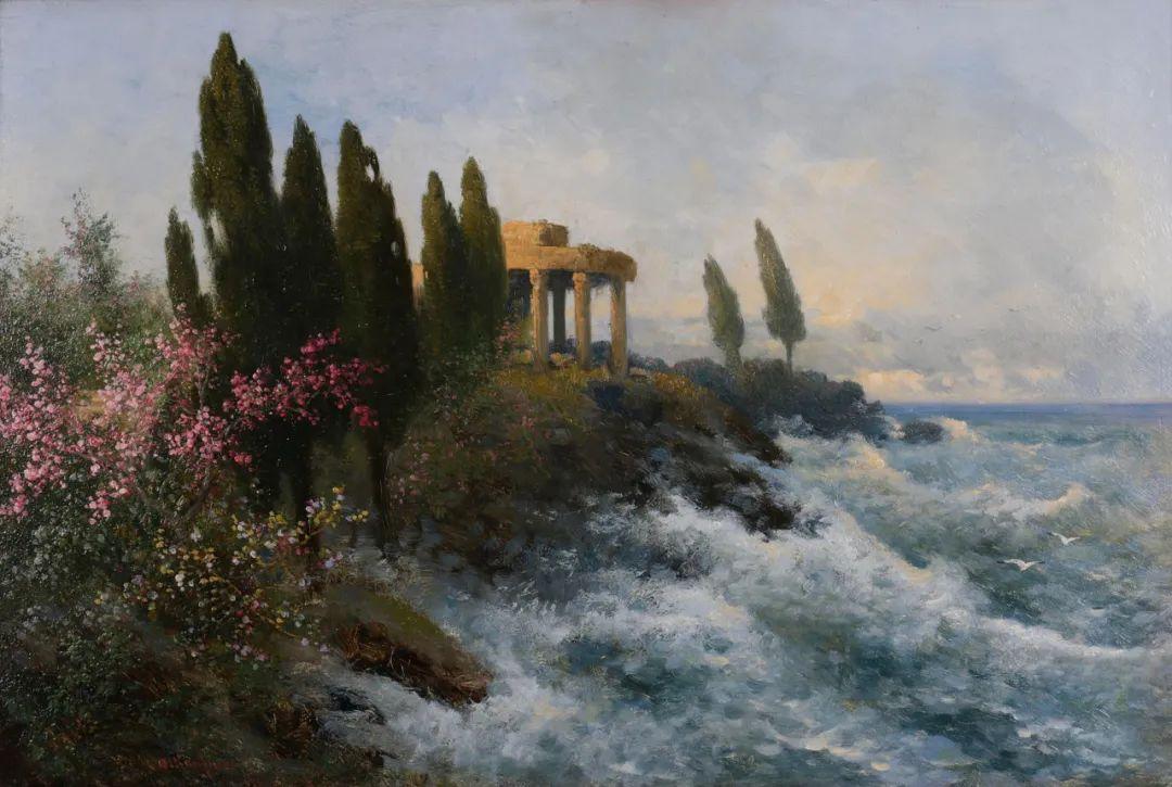 风景油画丨奥地利画家阿道夫·考夫曼的精美风景画插图17