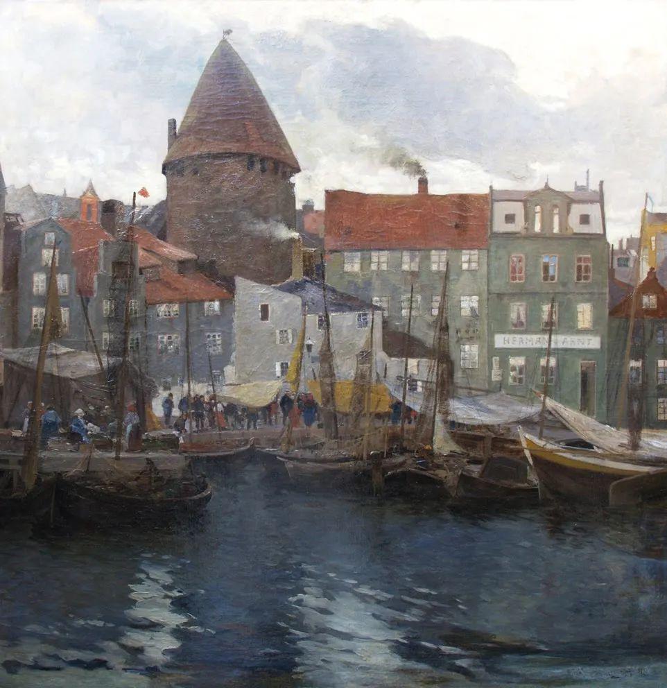 风景油画丨奥地利画家阿道夫·考夫曼的精美风景画插图19