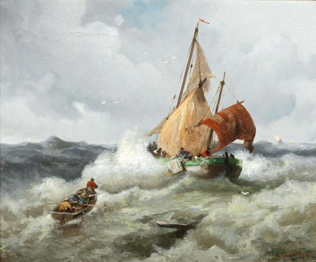 风景油画丨奥地利画家阿道夫·考夫曼的精美风景画插图21