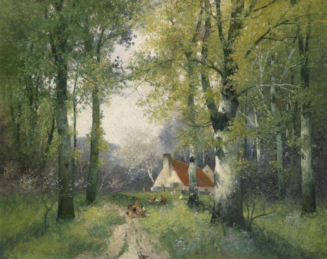 风景油画丨奥地利画家阿道夫·考夫曼的精美风景画插图25