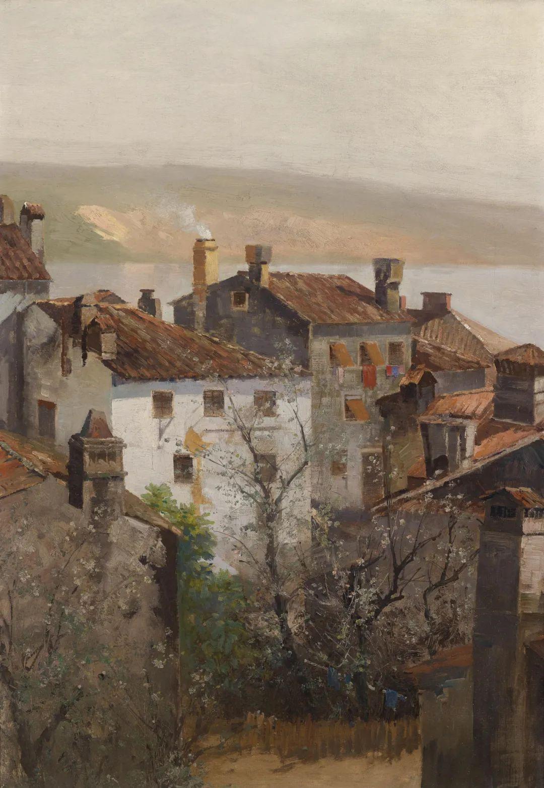 风景油画丨奥地利画家阿道夫·考夫曼的精美风景画插图27