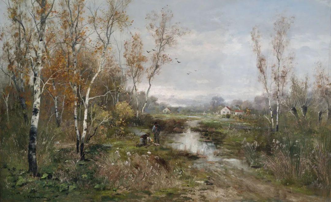 风景油画丨奥地利画家阿道夫·考夫曼的精美风景画插图29