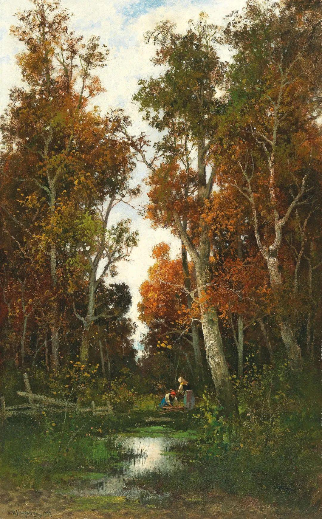 风景油画丨奥地利画家阿道夫·考夫曼的精美风景画插图31