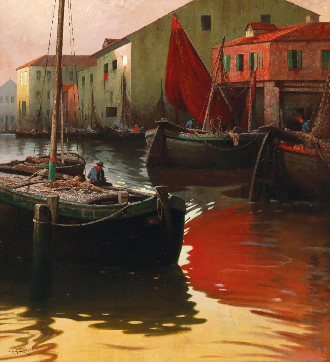 风景油画丨奥地利画家阿道夫·考夫曼的精美风景画插图33