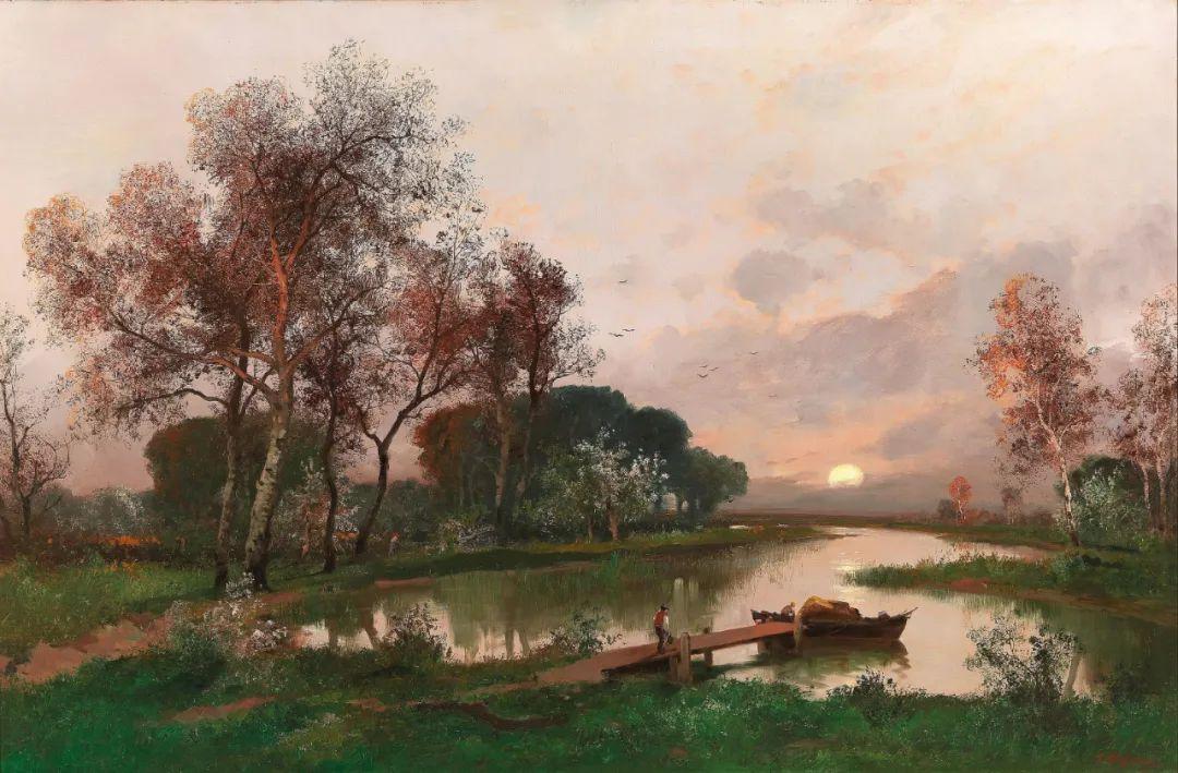 风景油画丨奥地利画家阿道夫·考夫曼的精美风景画插图37