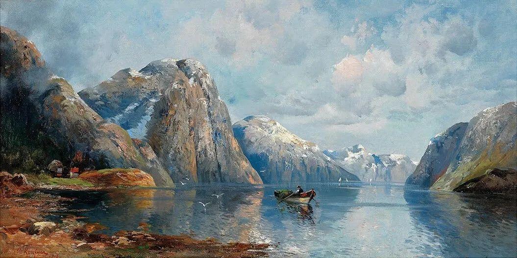 风景油画丨奥地利画家阿道夫·考夫曼的精美风景画插图39
