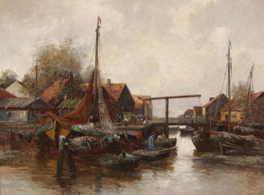风景油画丨奥地利画家阿道夫·考夫曼的精美风景画插图41
