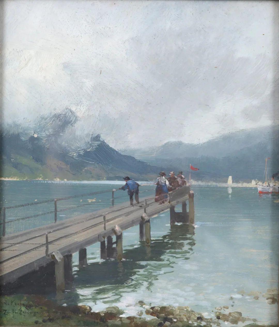 风景油画丨奥地利画家阿道夫·考夫曼的精美风景画插图43