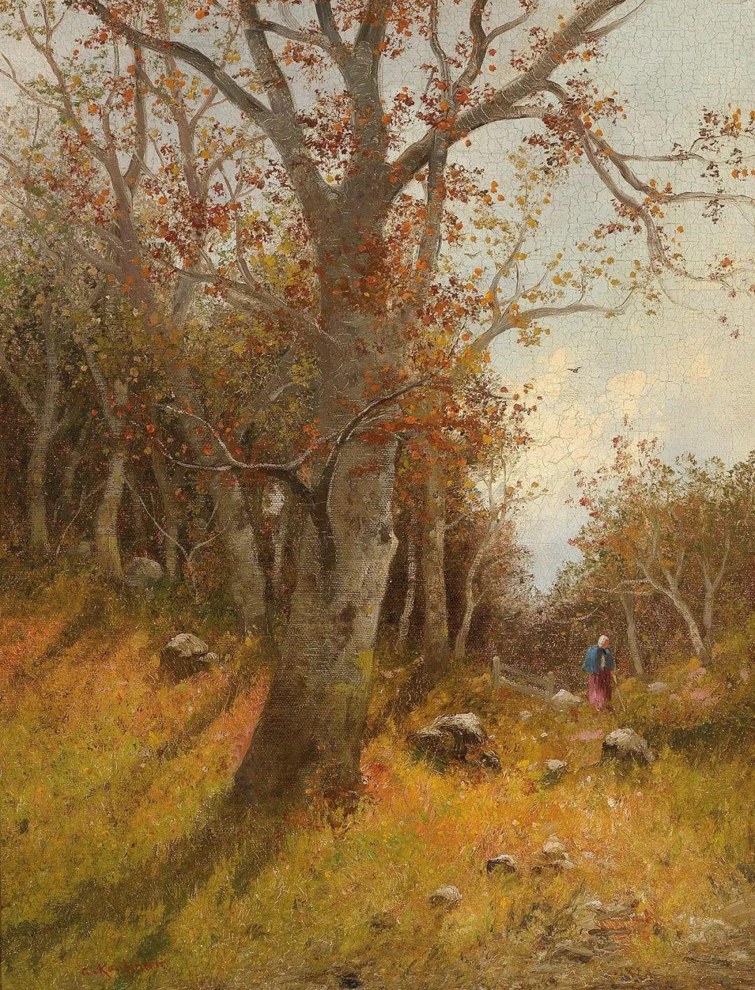 风景油画丨奥地利画家阿道夫·考夫曼的精美风景画插图45