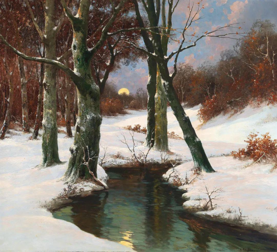 风景油画丨奥地利画家阿道夫·考夫曼的精美风景画插图47