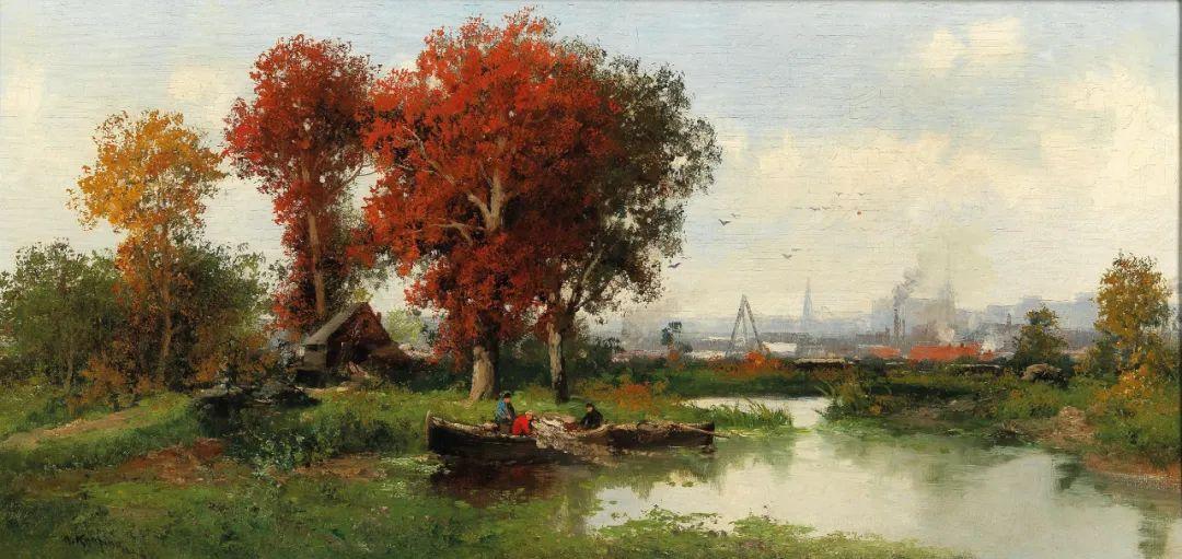 风景油画丨奥地利画家阿道夫·考夫曼的精美风景画插图49