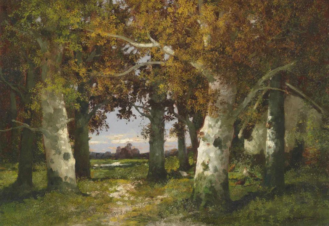 风景油画丨奥地利画家阿道夫·考夫曼的精美风景画插图51