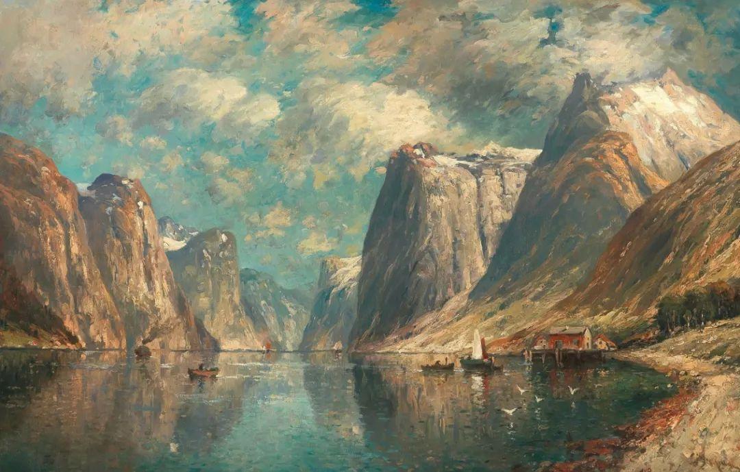 风景油画丨奥地利画家阿道夫·考夫曼的精美风景画插图53