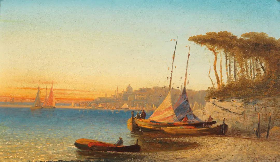 风景油画丨奥地利画家阿道夫·考夫曼的精美风景画插图55