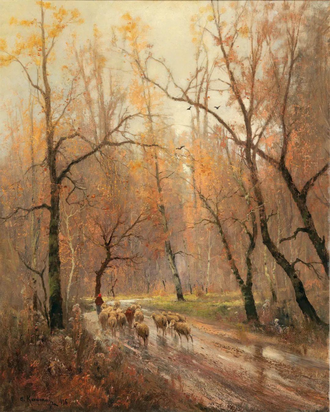 风景油画丨奥地利画家阿道夫·考夫曼的精美风景画插图57