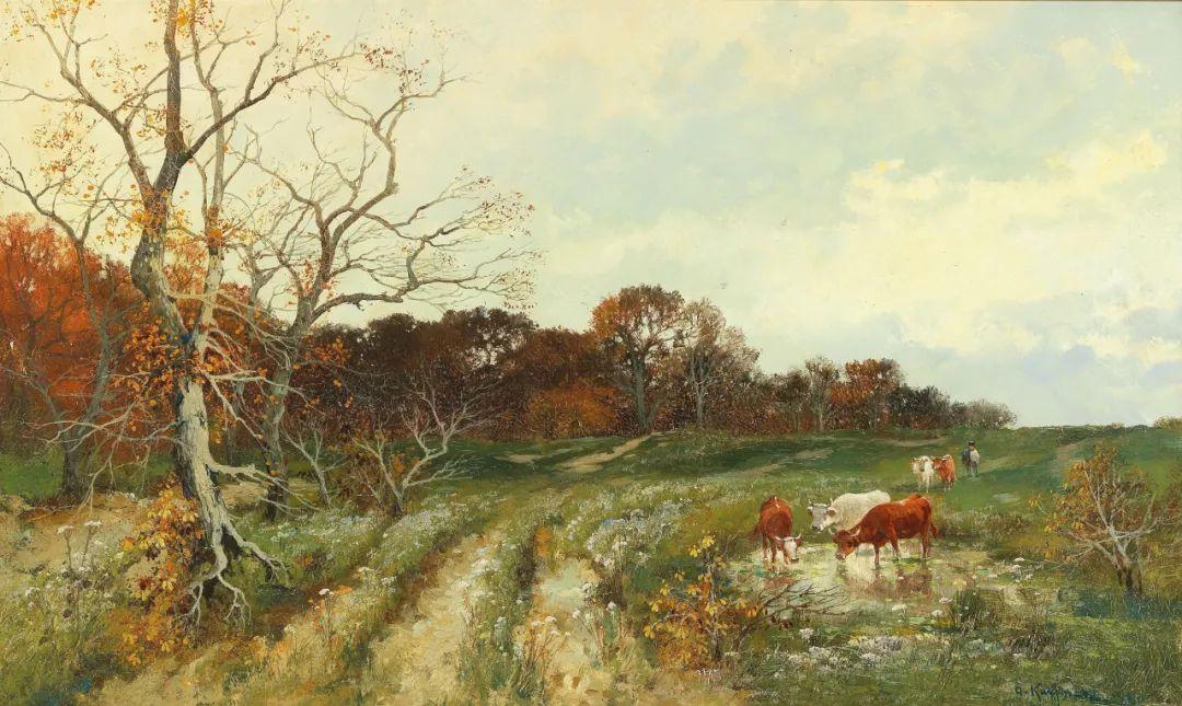 风景油画丨奥地利画家阿道夫·考夫曼的精美风景画插图59