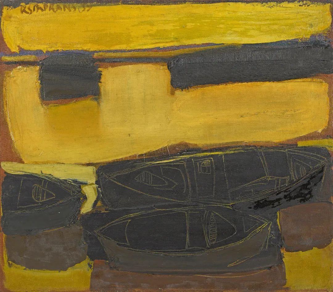 浓烈的色彩与极简的构图   莱蒙兹·斯塔普兰斯油画作品插图9
