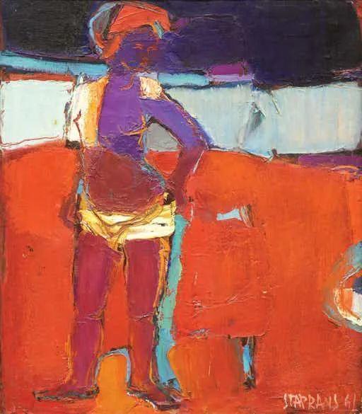 浓烈的色彩与极简的构图   莱蒙兹·斯塔普兰斯油画作品插图11
