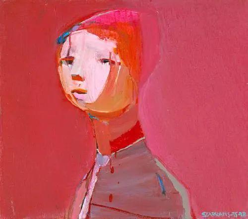 浓烈的色彩与极简的构图   莱蒙兹·斯塔普兰斯油画作品插图15