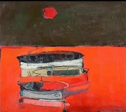 浓烈的色彩与极简的构图   莱蒙兹·斯塔普兰斯油画作品插图22