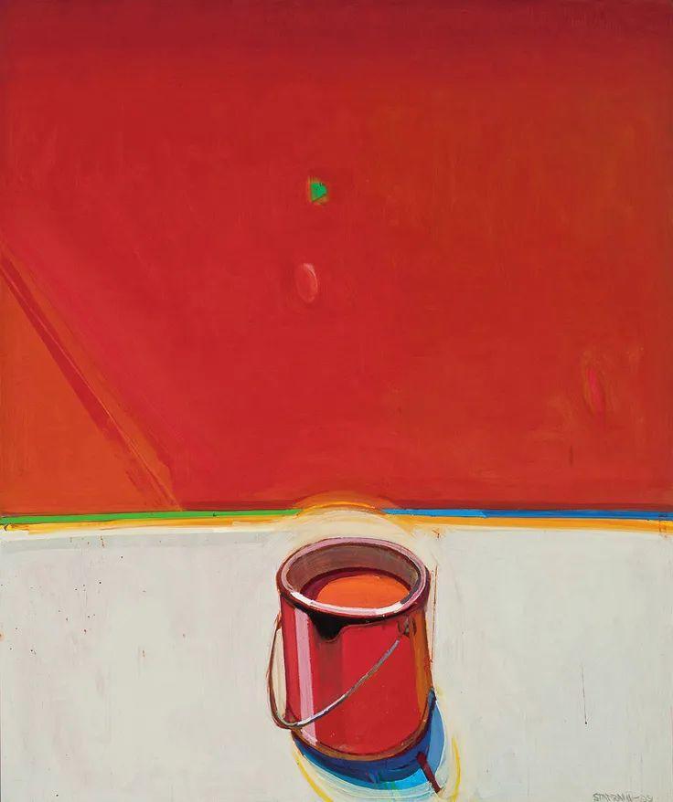 浓烈的色彩与极简的构图   莱蒙兹·斯塔普兰斯油画作品插图49