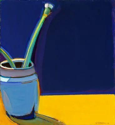 浓烈的色彩与极简的构图   莱蒙兹·斯塔普兰斯油画作品插图73