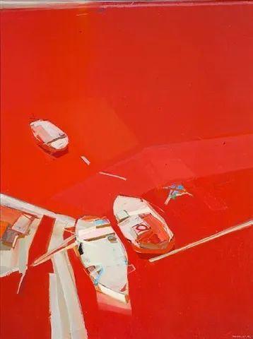 浓烈的色彩与极简的构图   莱蒙兹·斯塔普兰斯油画作品插图97