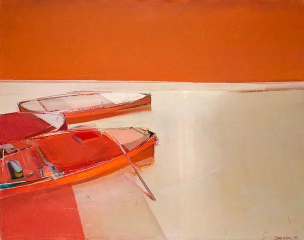 浓烈的色彩与极简的构图   莱蒙兹·斯塔普兰斯油画作品插图105