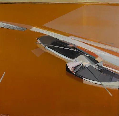 浓烈的色彩与极简的构图   莱蒙兹·斯塔普兰斯油画作品插图131