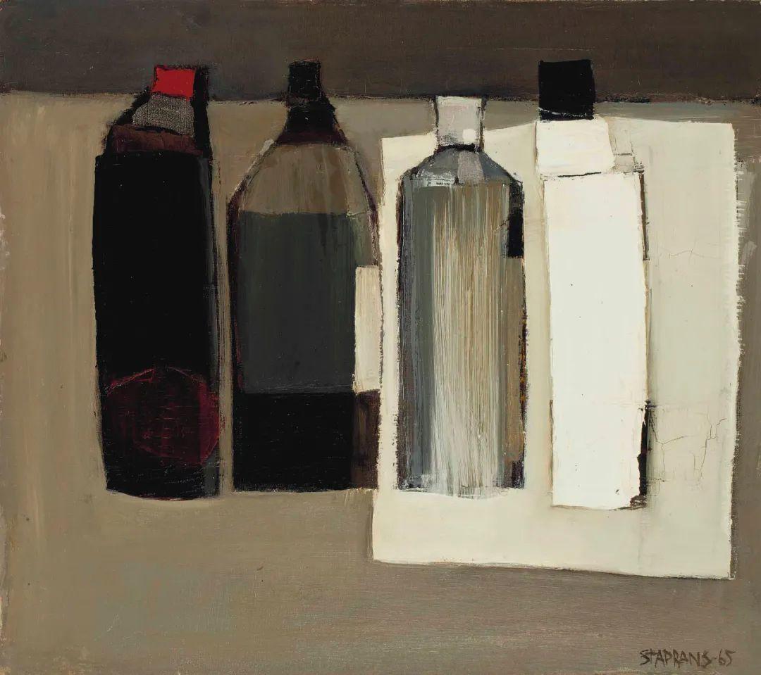 浓烈的色彩与极简的构图   莱蒙兹·斯塔普兰斯油画作品插图133