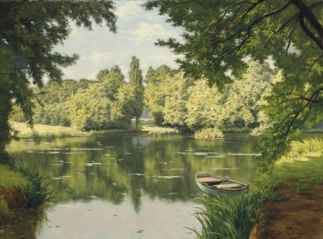 风景油画丨法国画家亨利·比瓦的风景油画作品插图3