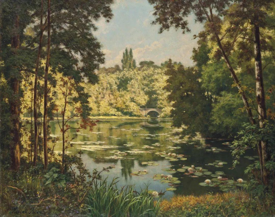 风景油画丨法国画家亨利·比瓦的风景油画作品插图5
