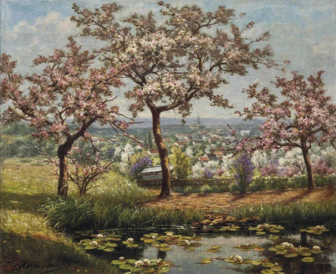 风景油画丨法国画家亨利·比瓦的风景油画作品插图7