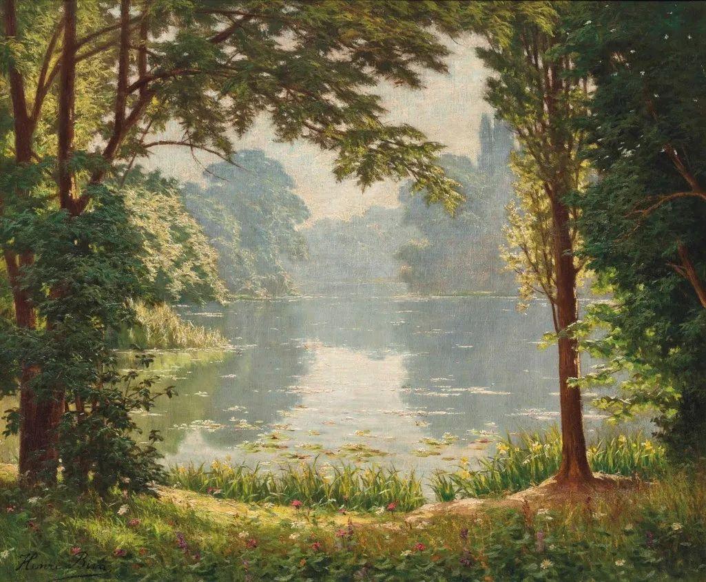 风景油画丨法国画家亨利·比瓦的风景油画作品插图9