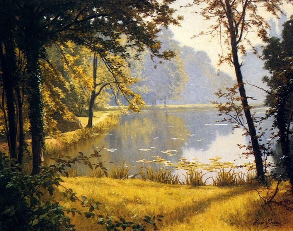 风景油画丨法国画家亨利·比瓦的风景油画作品插图11