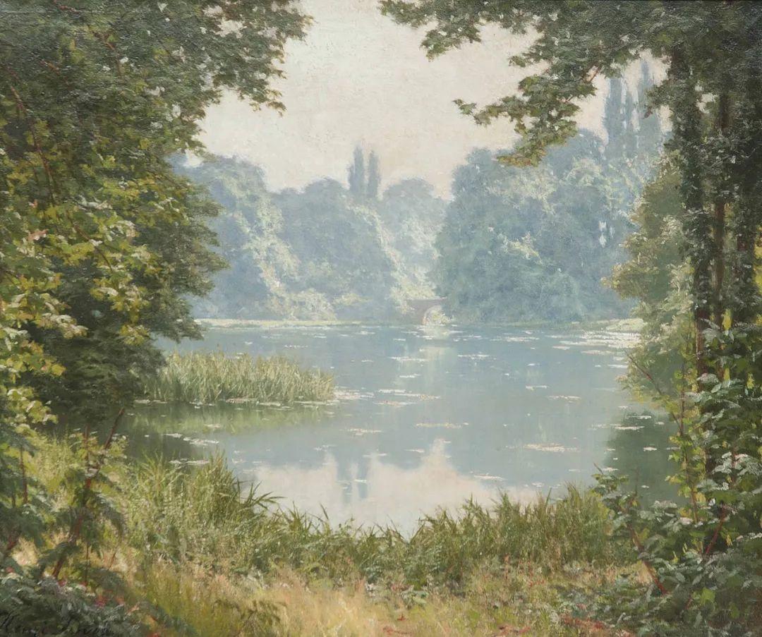 风景油画丨法国画家亨利·比瓦的风景油画作品插图13