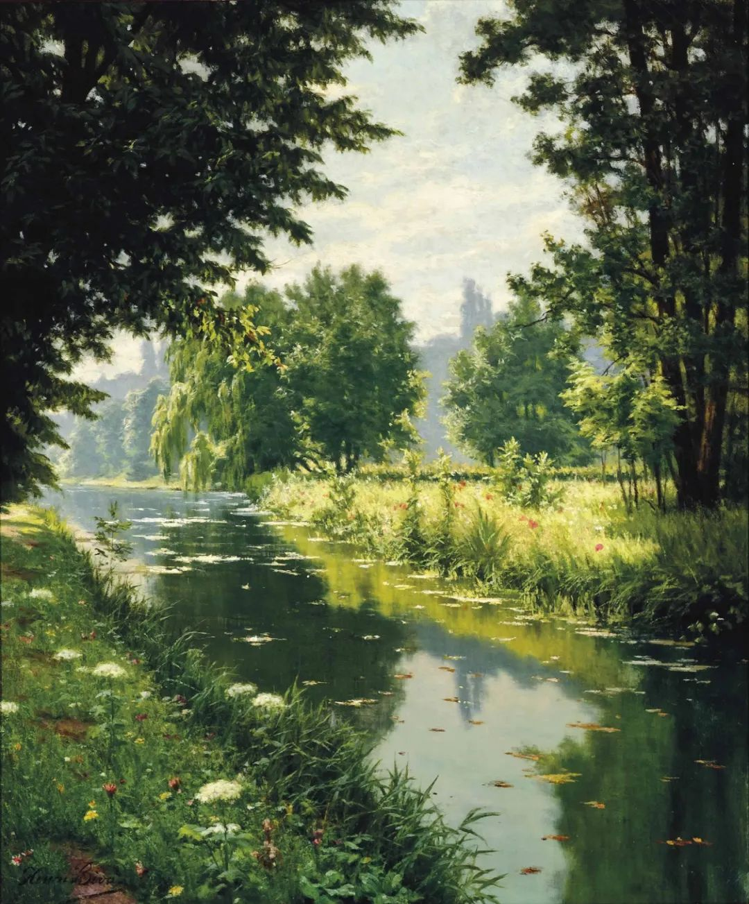 风景油画丨法国画家亨利·比瓦的风景油画作品插图15