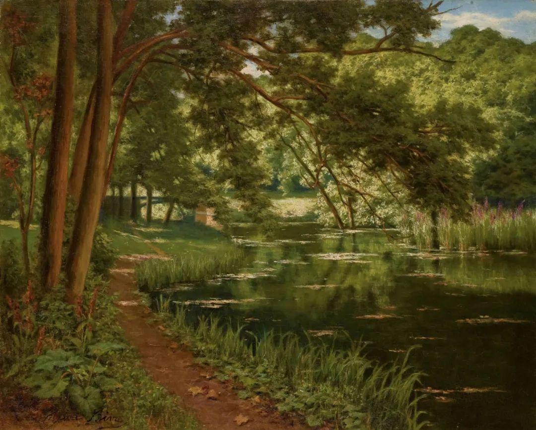 风景油画丨法国画家亨利·比瓦的风景油画作品插图17