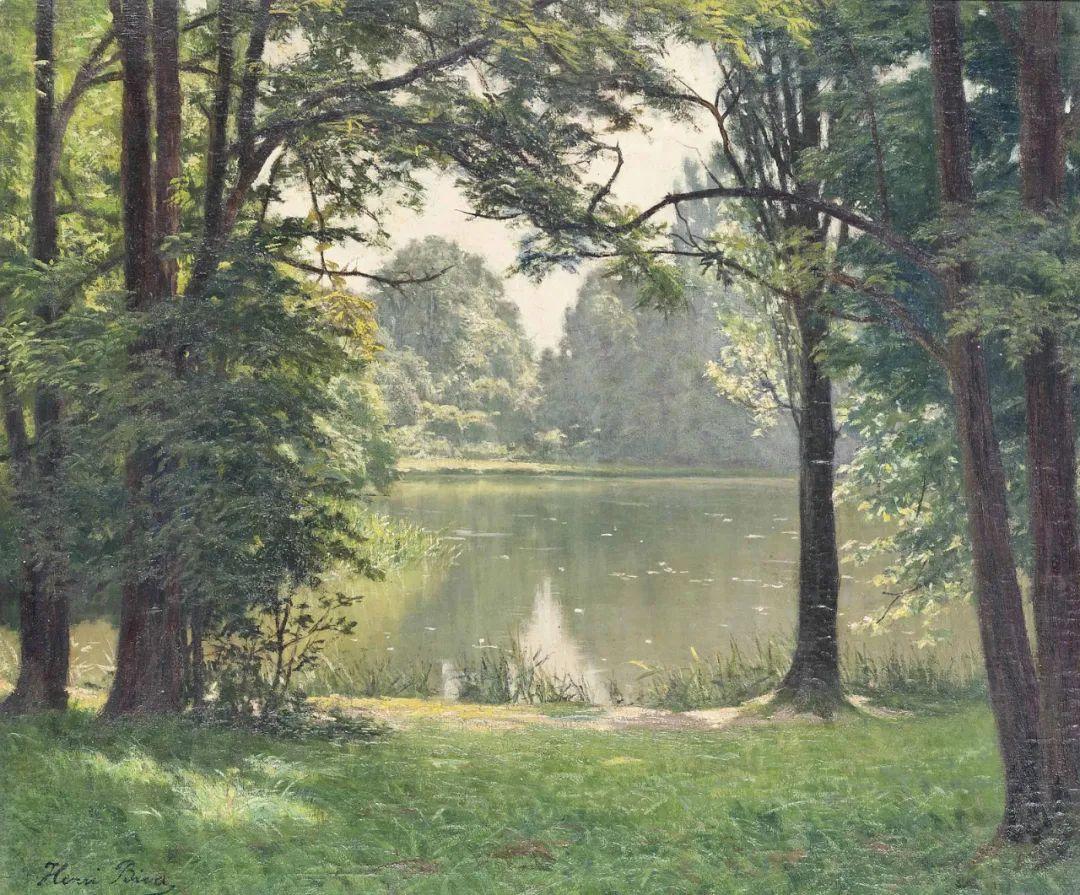 风景油画丨法国画家亨利·比瓦的风景油画作品插图19