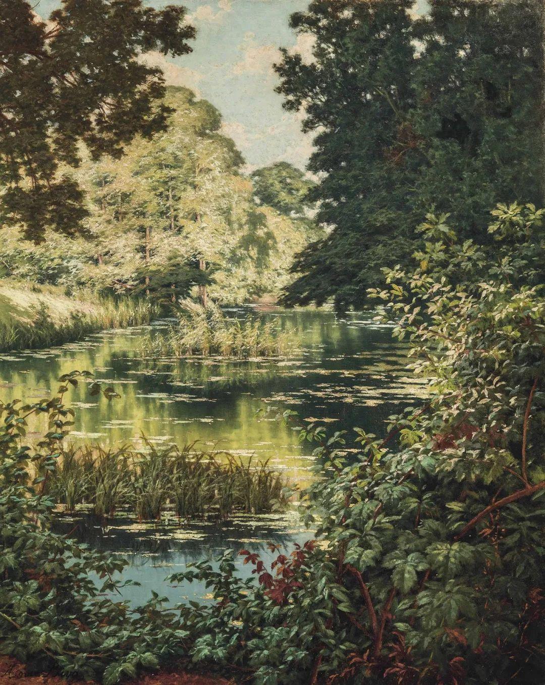 风景油画丨法国画家亨利·比瓦的风景油画作品插图21