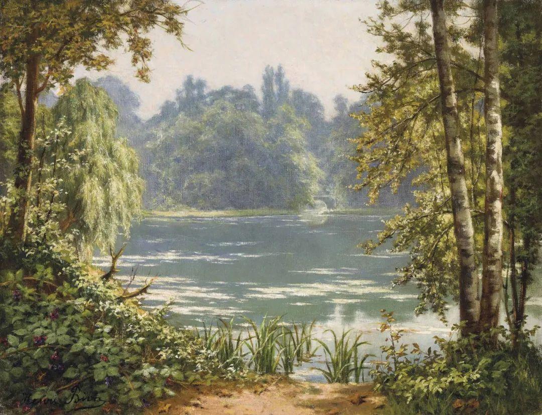 风景油画丨法国画家亨利·比瓦的风景油画作品插图25