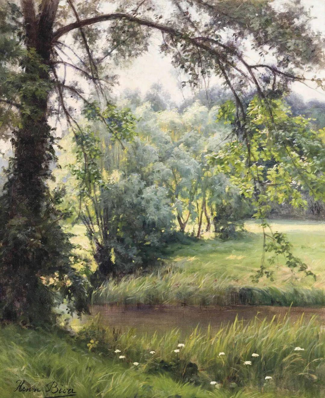风景油画丨法国画家亨利·比瓦的风景油画作品插图29
