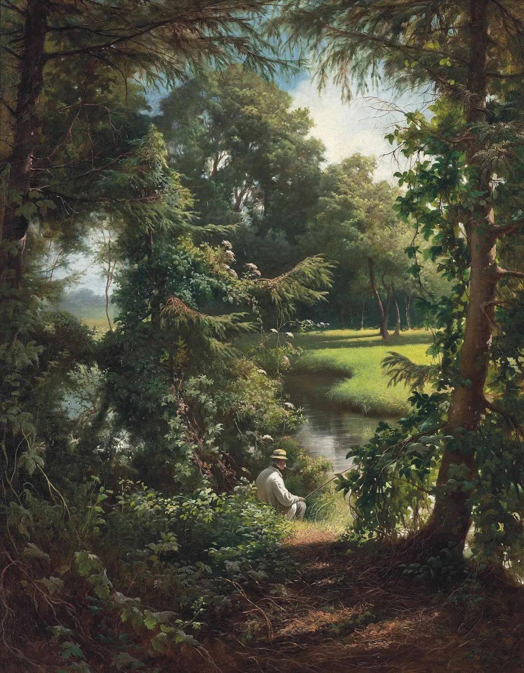 风景油画丨法国画家亨利·比瓦的风景油画作品插图33