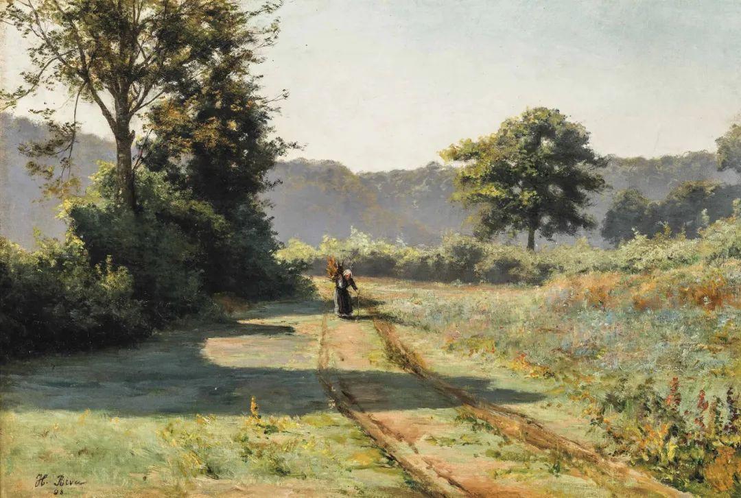风景油画丨法国画家亨利·比瓦的风景油画作品插图35
