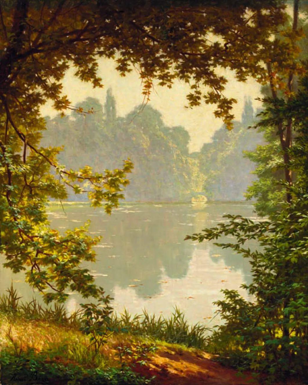 风景油画丨法国画家亨利·比瓦的风景油画作品插图37
