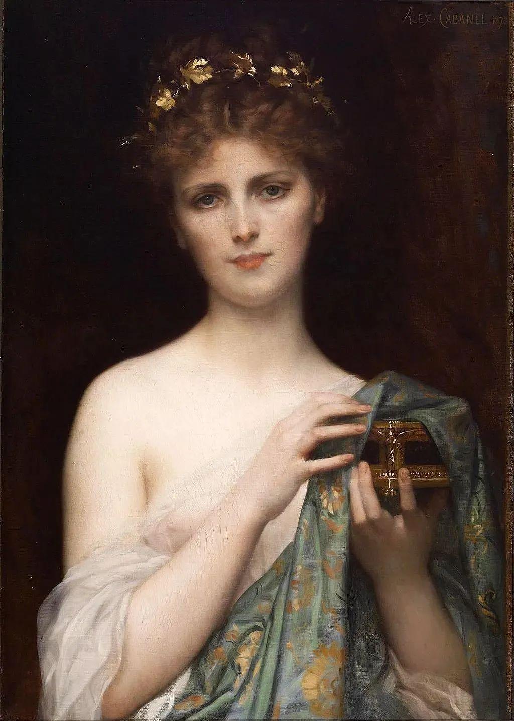见证实力!法国新古典主义学院派画家,亚历山大·卡巴内尔的油画插图3