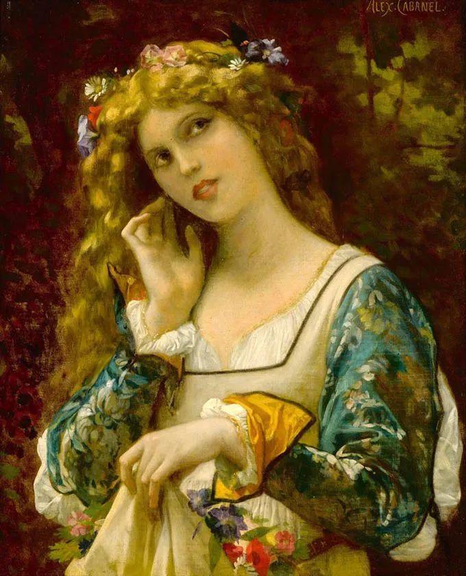 见证实力!法国新古典主义学院派画家,亚历山大·卡巴内尔的油画插图9