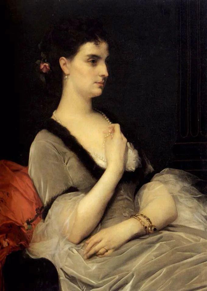 见证实力!法国新古典主义学院派画家,亚历山大·卡巴内尔的油画插图23