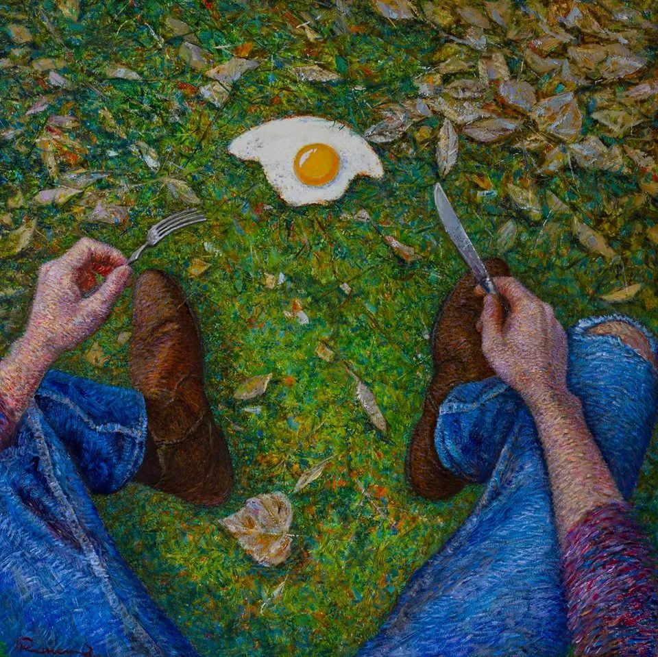 点彩与印象,乌克兰画家罗曼·康斯坦丁诺夫插图79