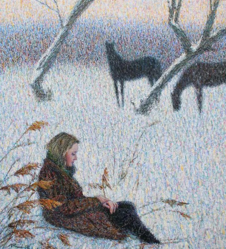 点彩与印象,乌克兰画家罗曼·康斯坦丁诺夫插图21